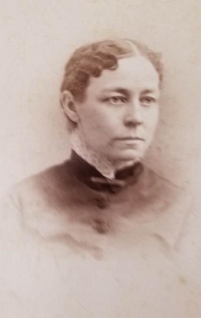 Antique 19th C Victorian Cabinet Card Photo Album - 3