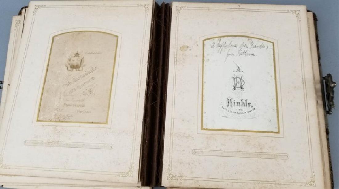 Antique 19th C Victorian Cabinet Card Photo Album - 4