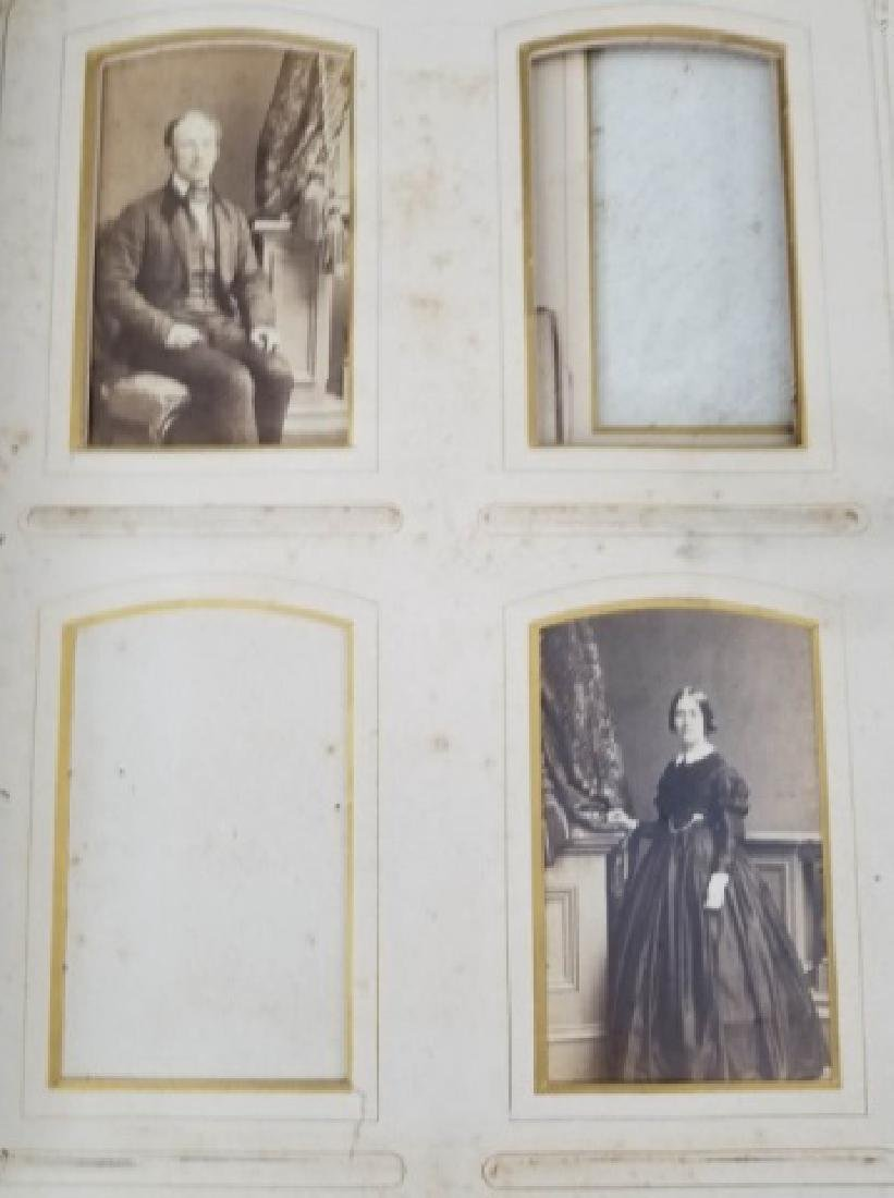Antique 19th C Victorian Cabinet Card Photo Album - 5
