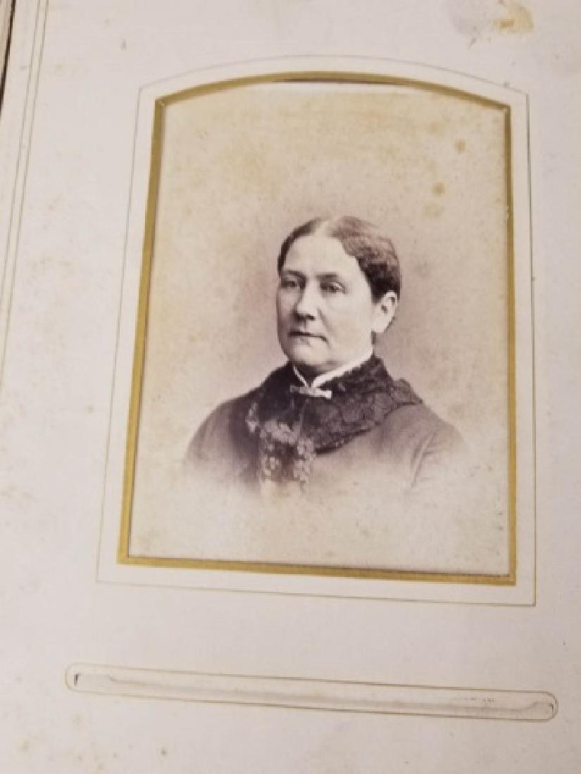 Antique 19th C Victorian Cabinet Card Photo Album - 7