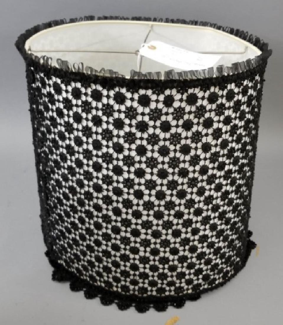 5 Vintage Lamp Shades, Including Black Lace - 2