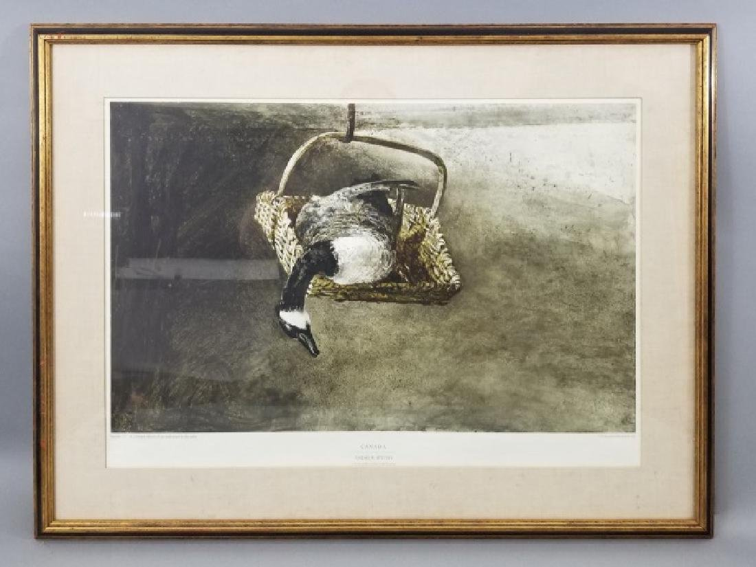 Andrew Wyeth Framed Artists' Proof - Canada