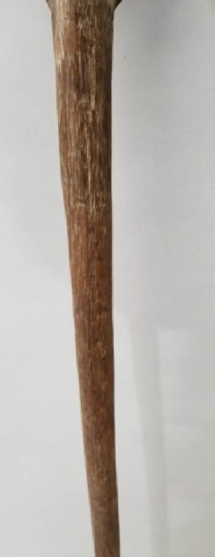 Antique 19 C New Guinea Wood-Carved Spear - 5