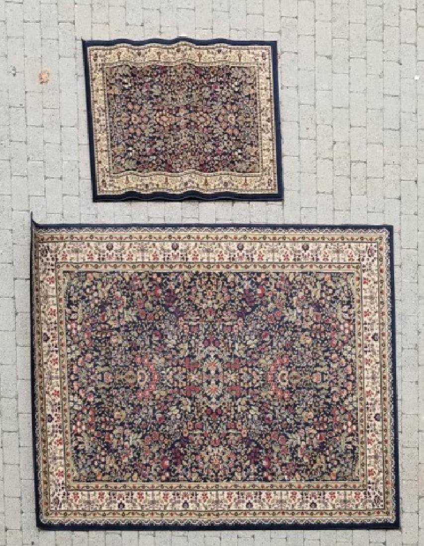 Large Oriental Style Wool Rug & Matching Doormat