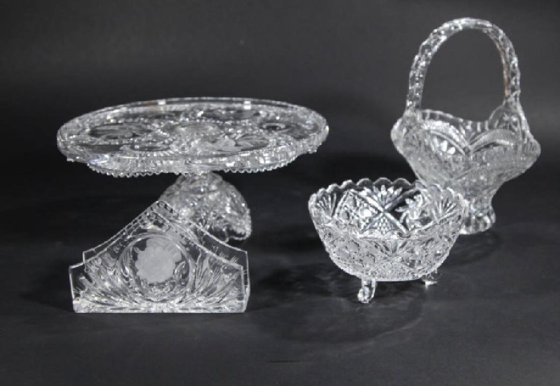 Assorted Vintage Glass & Cut Crystal Serving Items