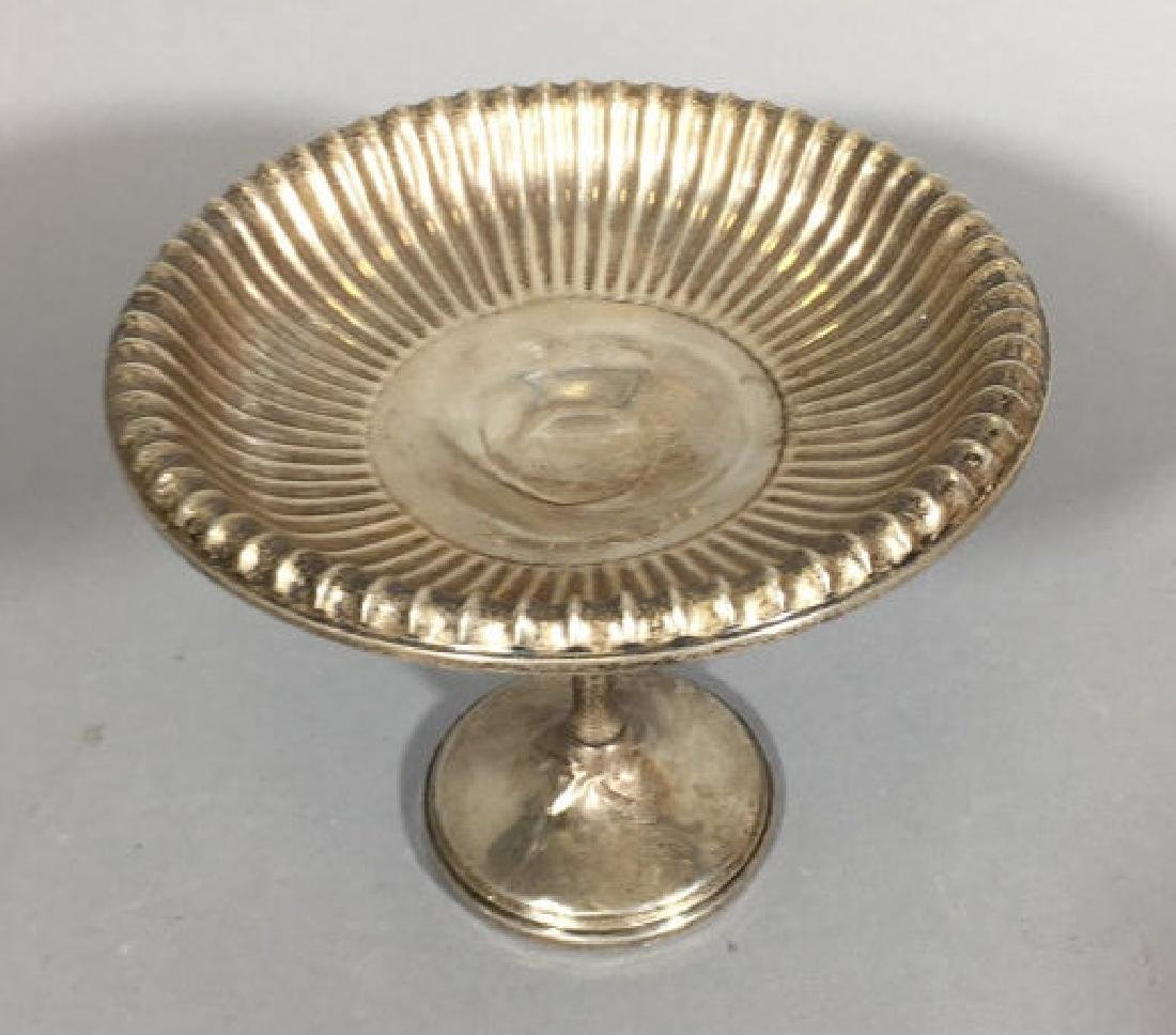 Repousse Ripple Design Sterling Silver Compote
