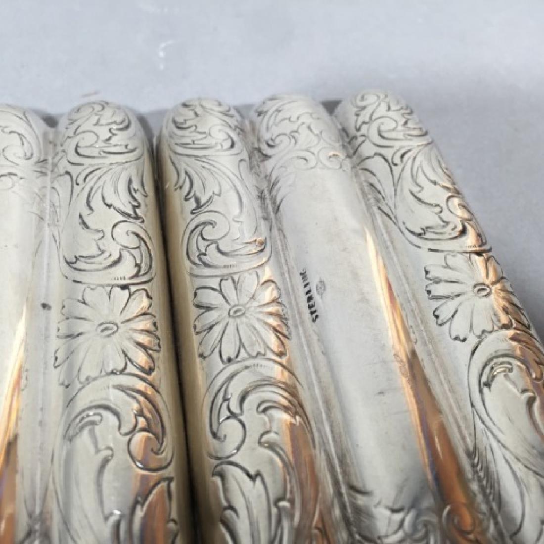 Antique Sterling Silver & Gilt Wash Cigar Case - 2