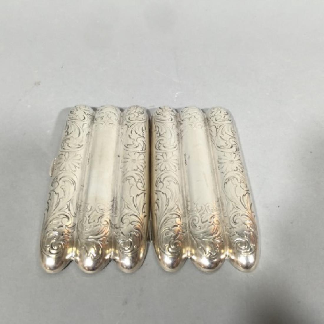 Antique Sterling Silver & Gilt Wash Cigar Case - 4