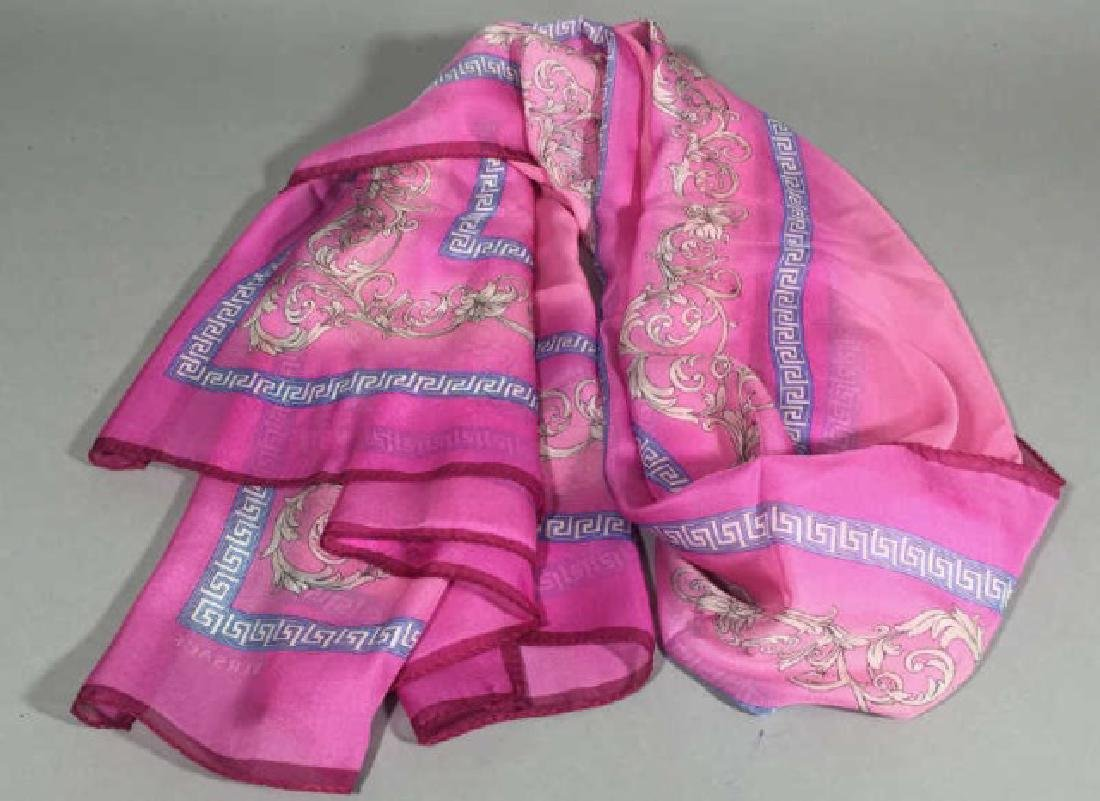 Versace Silk Wrap Scarf in Shades of Pink NWOT