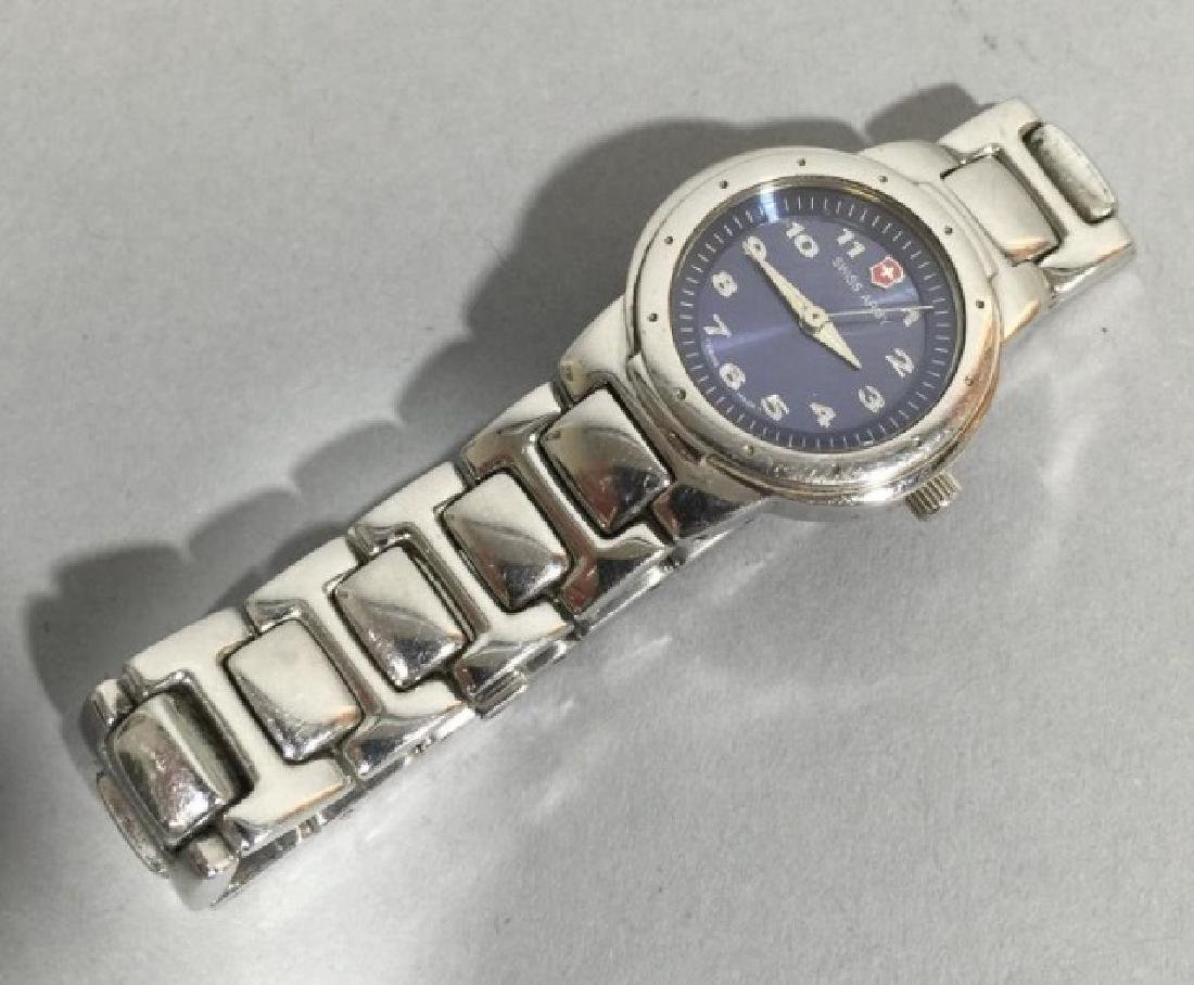 Ladies' Swiss Army Stainless Steel Link Band Watch