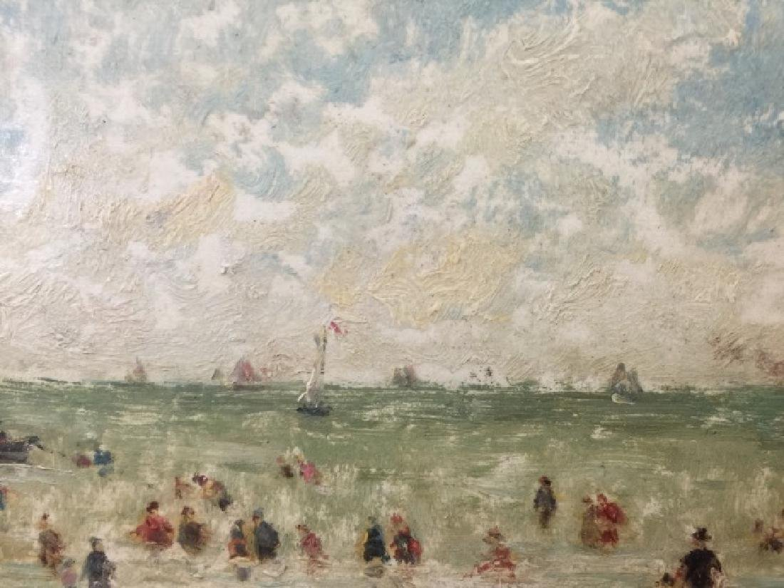 Oil on Board of Le Havre Harbor by Alfred Stevens - 7
