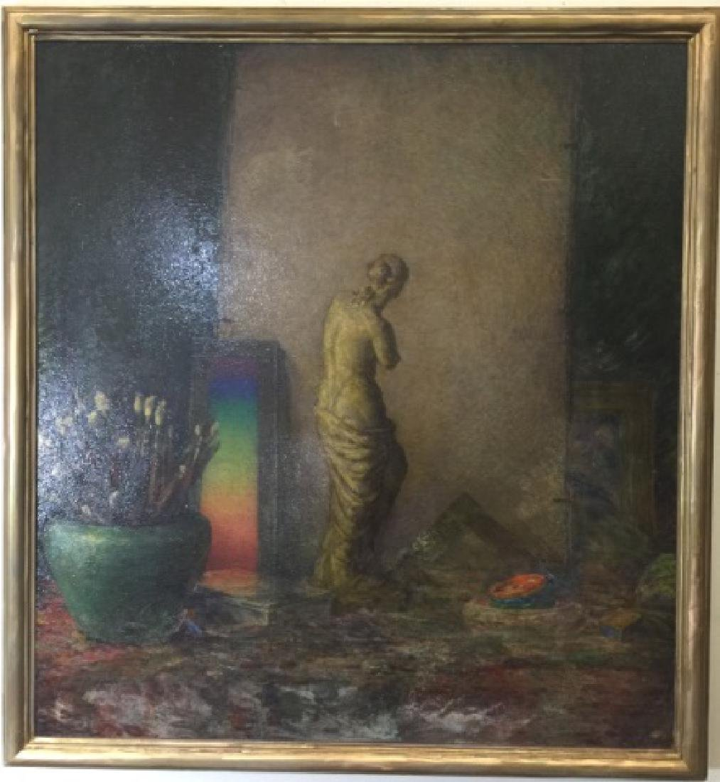 Samantha Littlefield Large Antique Oil Painting