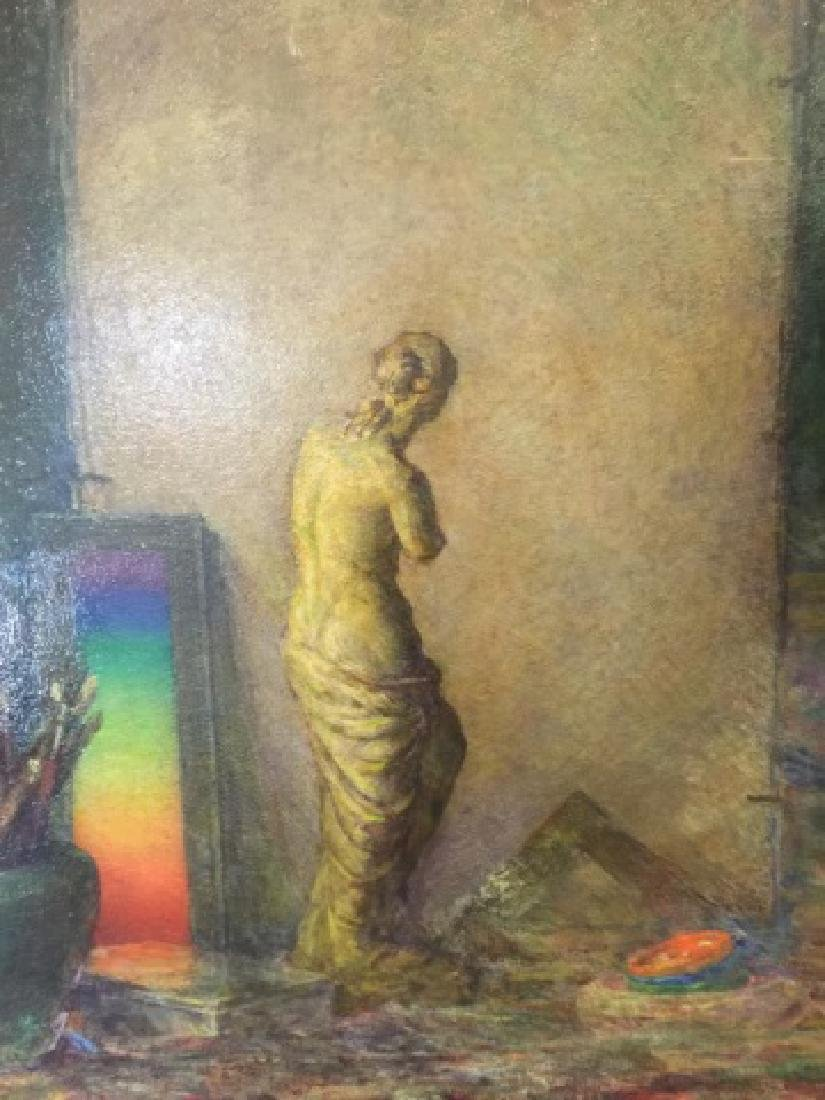Samantha Littlefield Large Antique Oil Painting - 2