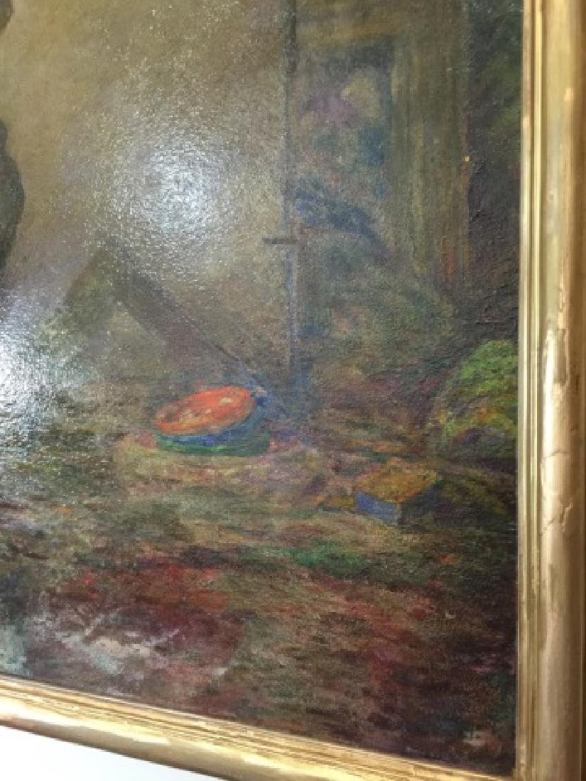 Samantha Littlefield Large Antique Oil Painting - 5