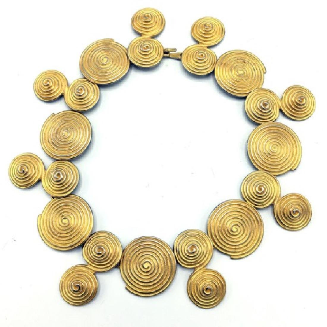 Costume Jewelry - Vintage 1980s Gold Tone Necklace - 2