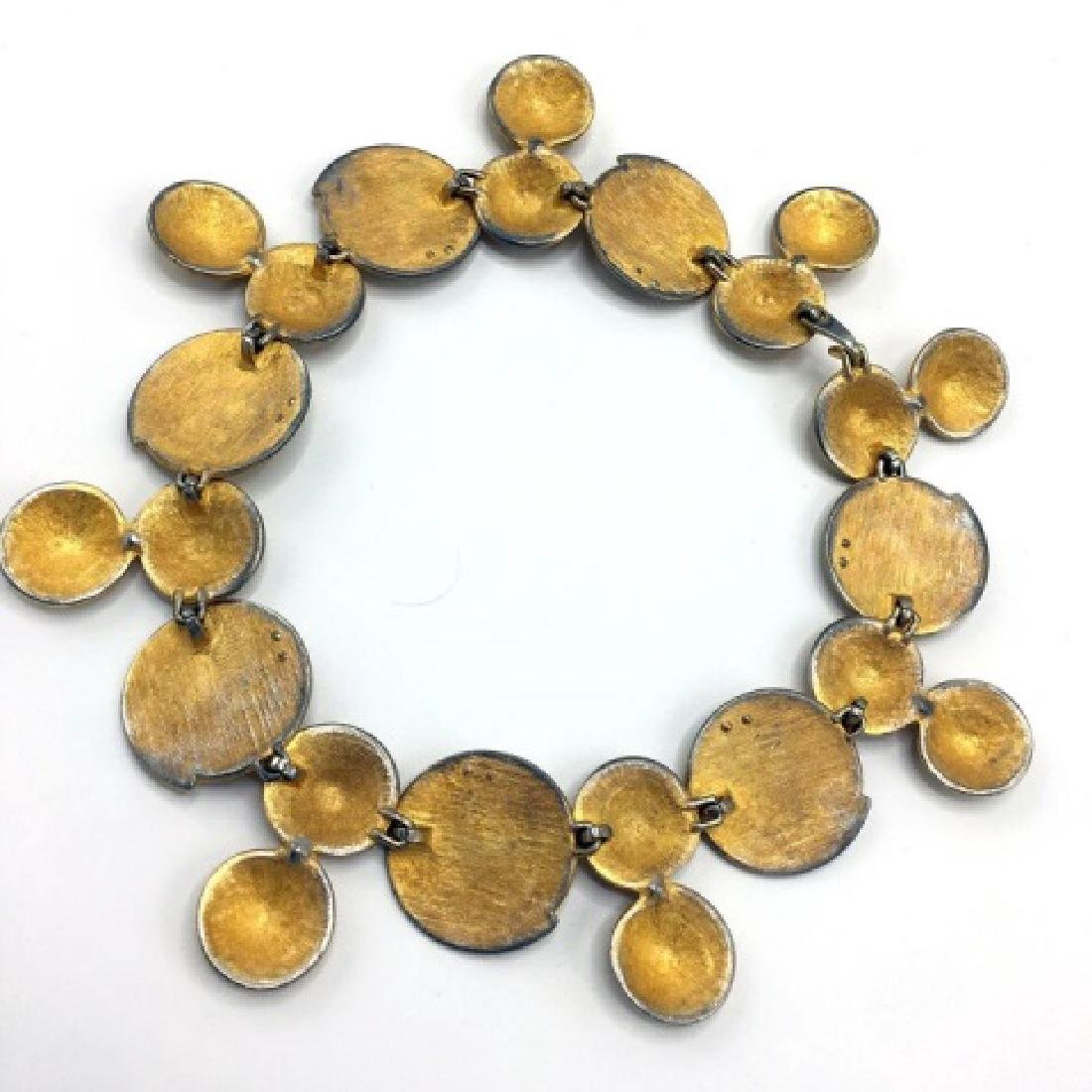 Costume Jewelry - Vintage 1980s Gold Tone Necklace - 3