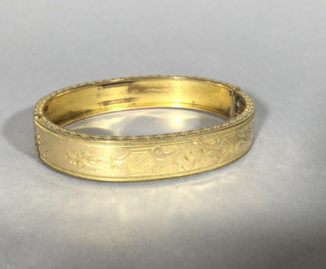 Antique 19th C Victorian Gold Bangle Bracelet