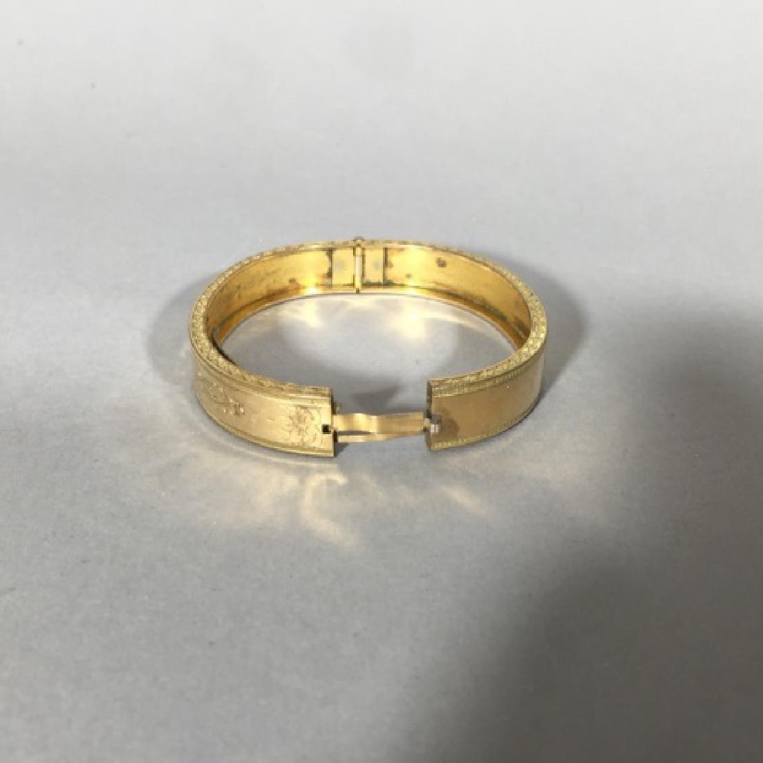 Antique 19th C Victorian Gold Bangle Bracelet - 2