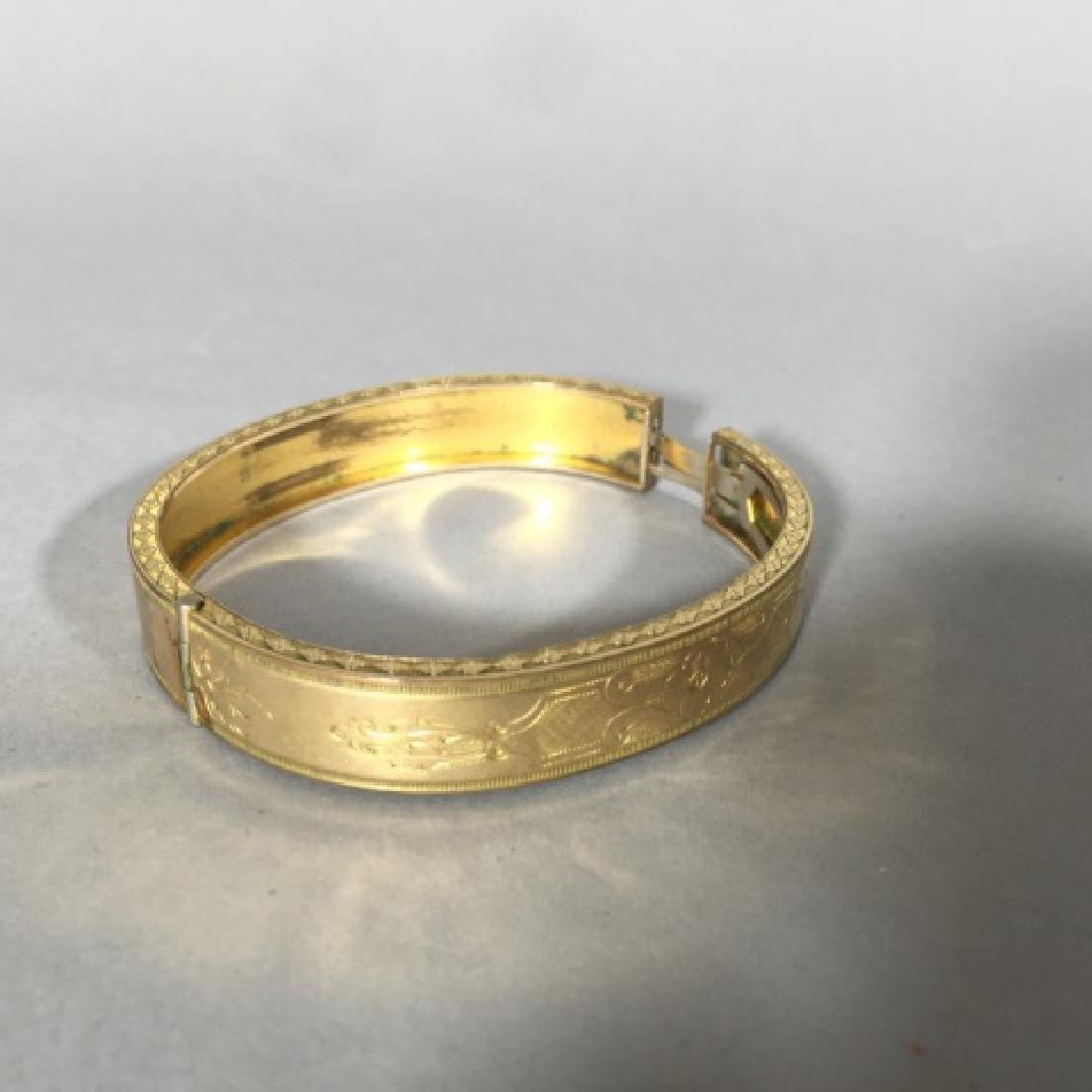 Antique 19th C Victorian Gold Bangle Bracelet - 3