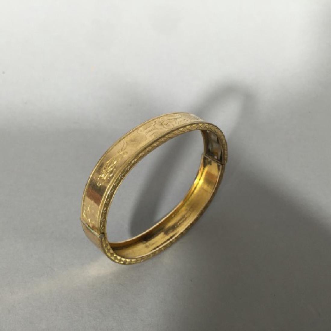 Antique 19th C Victorian Gold Bangle Bracelet - 4