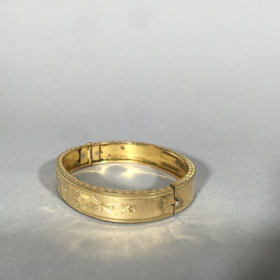 Antique 19th C Victorian Gold Bangle Bracelet - 5