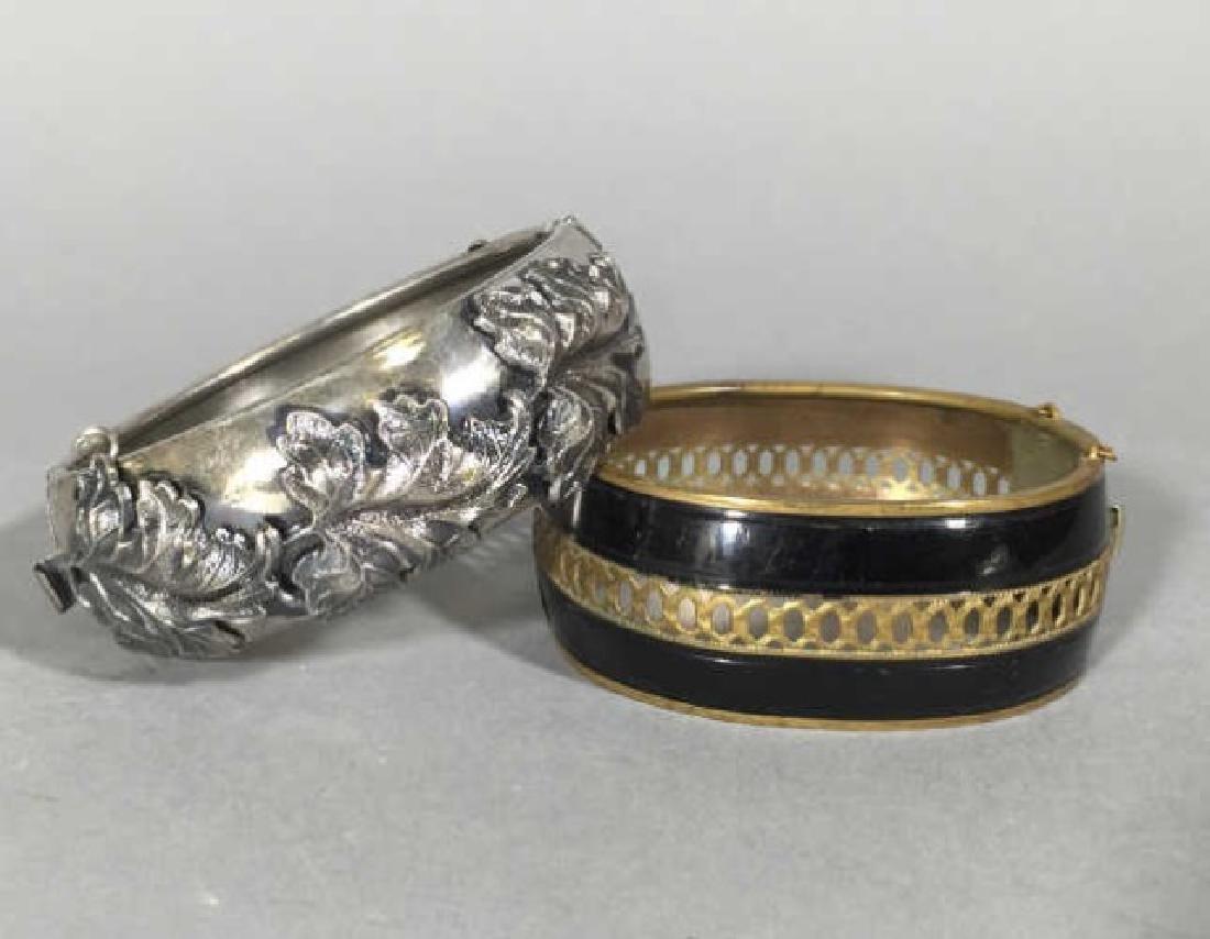 Two Estate / Vintage Hinged Bangle Bracelets