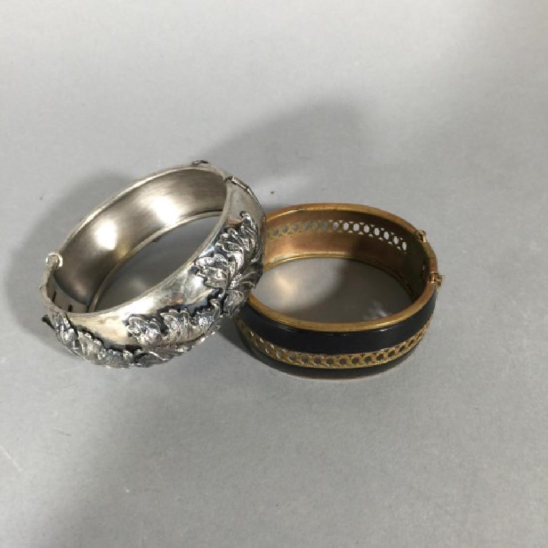 Two Estate / Vintage Hinged Bangle Bracelets - 2