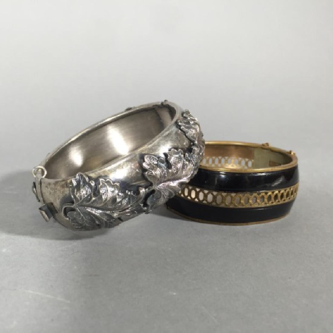 Two Estate / Vintage Hinged Bangle Bracelets - 4