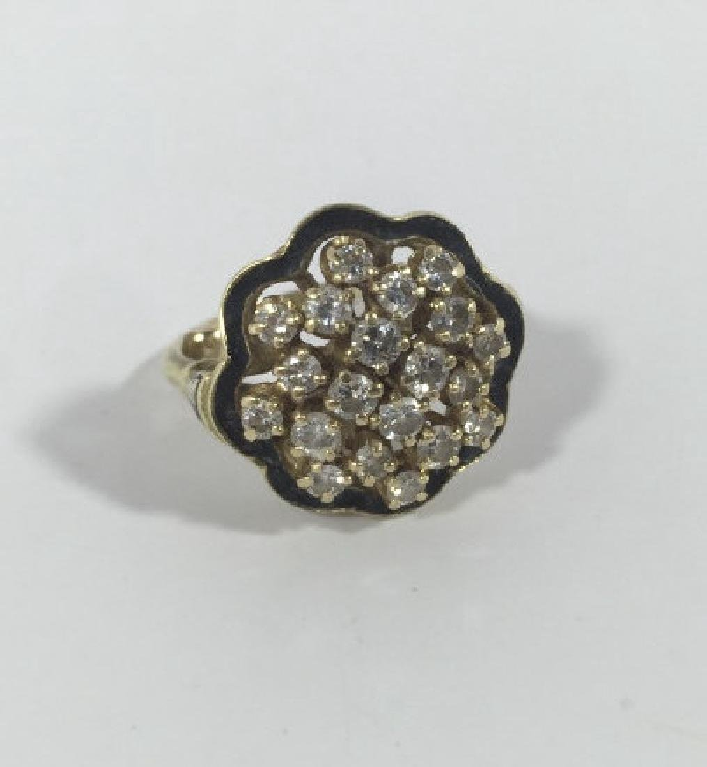 Estate 14kt Gold & 1 Carat Diamond Cluster Ring