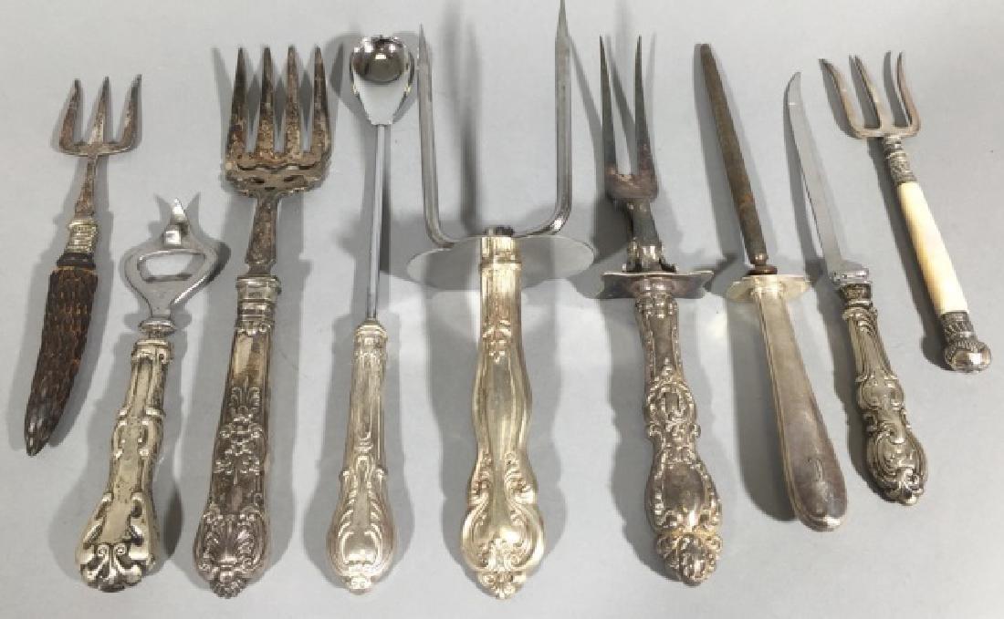 Assorted Sterling Silver Handled Serving Utensils