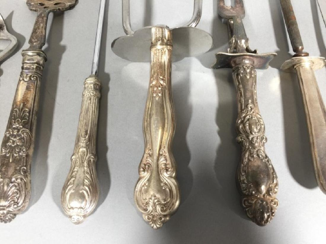 Assorted Sterling Silver Handled Serving Utensils - 4