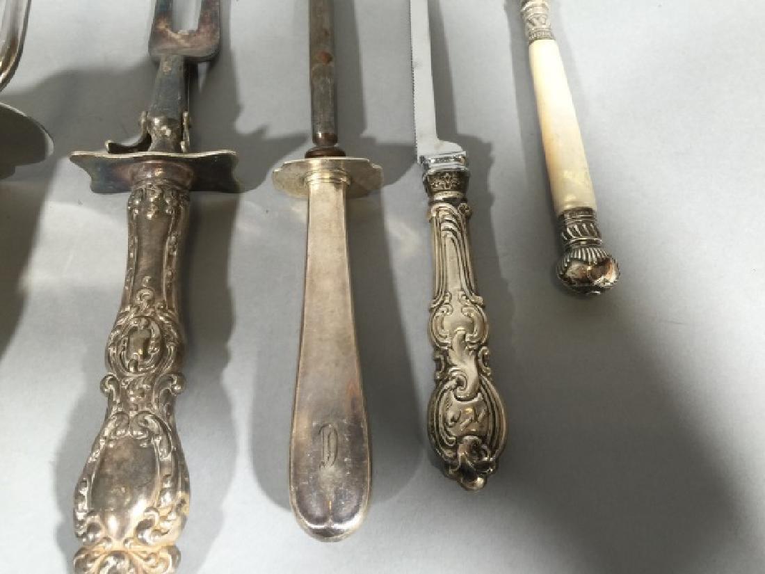 Assorted Sterling Silver Handled Serving Utensils - 5