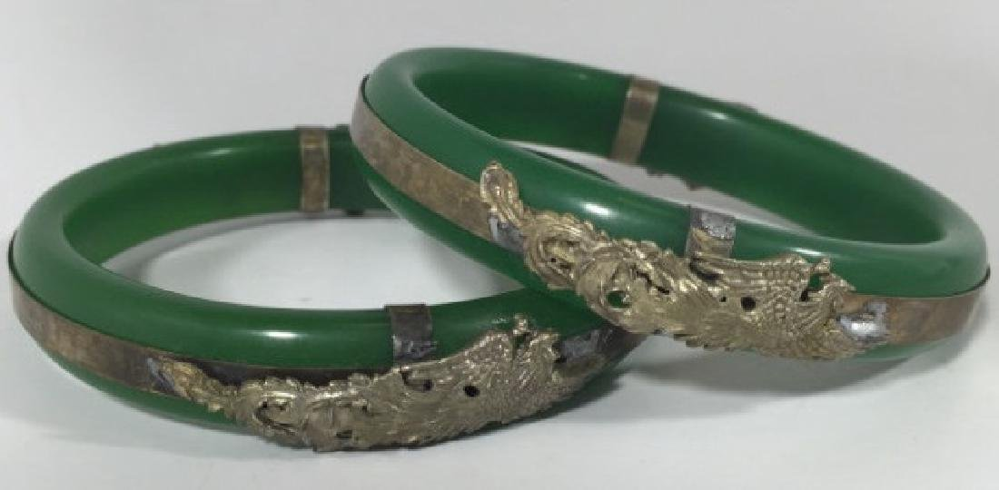 Pair Chinese Phoenix & Dragon Mount Bracelets