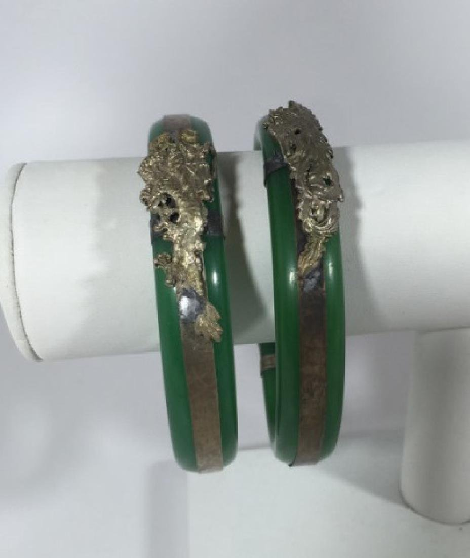 Pair Chinese Phoenix & Dragon Mount Bracelets - 2