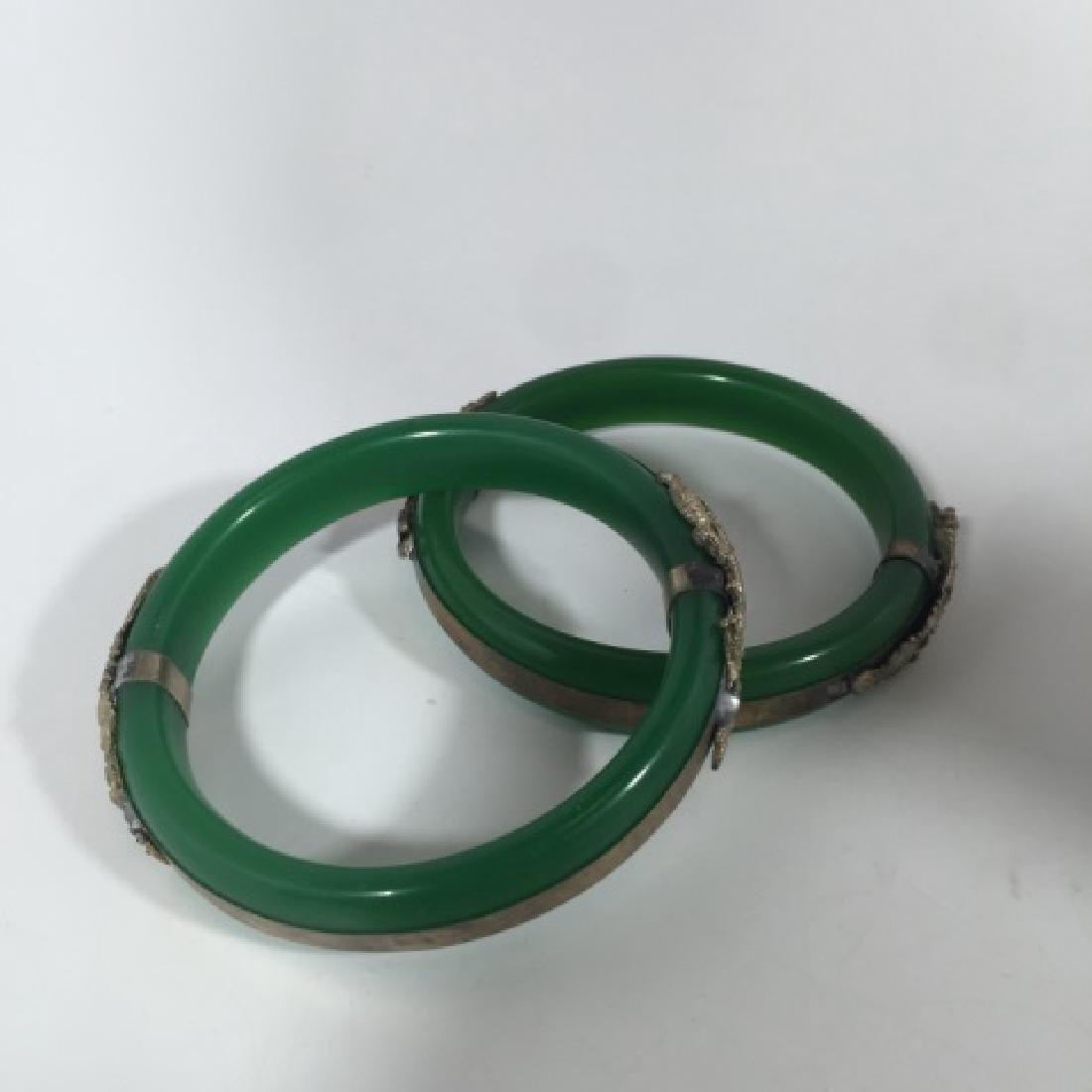 Pair Chinese Phoenix & Dragon Mount Bracelets - 3