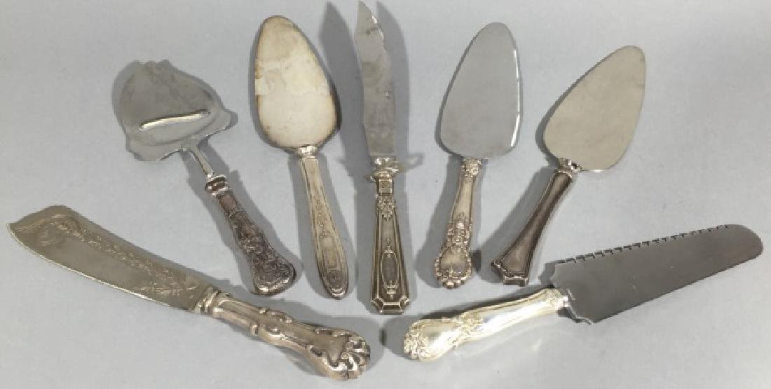 Sterling Silver Handle Cake Servers & Knives