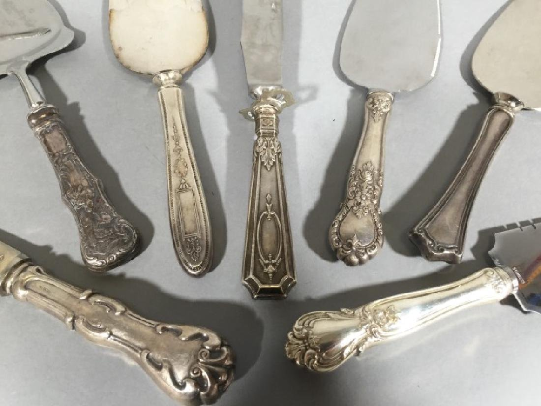 Sterling Silver Handle Cake Servers & Knives - 4