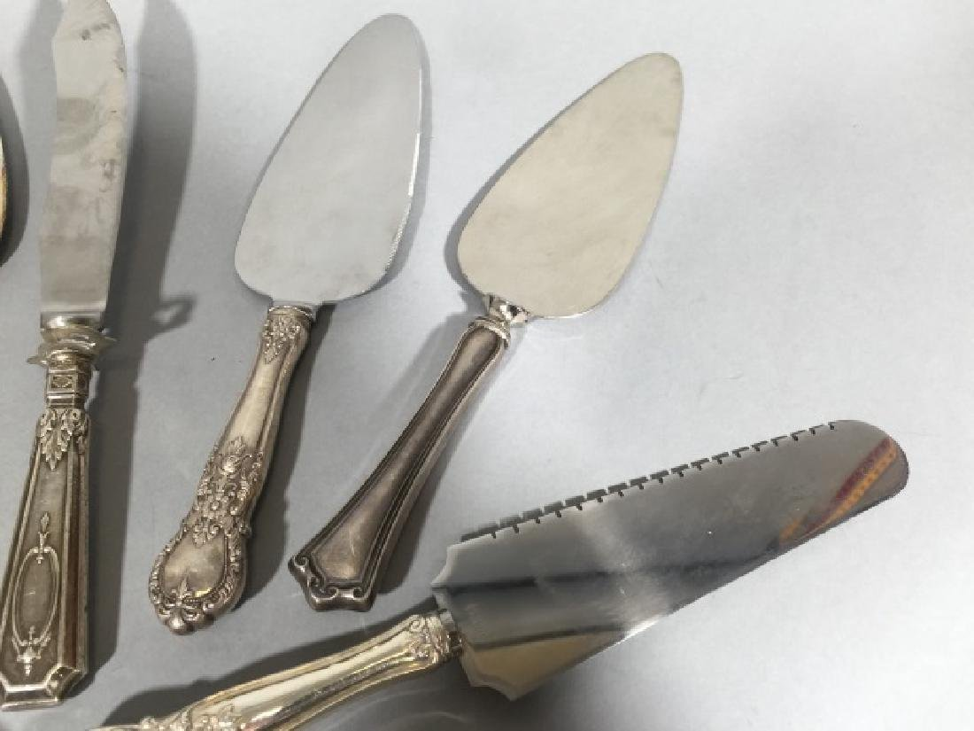 Sterling Silver Handle Cake Servers & Knives - 5