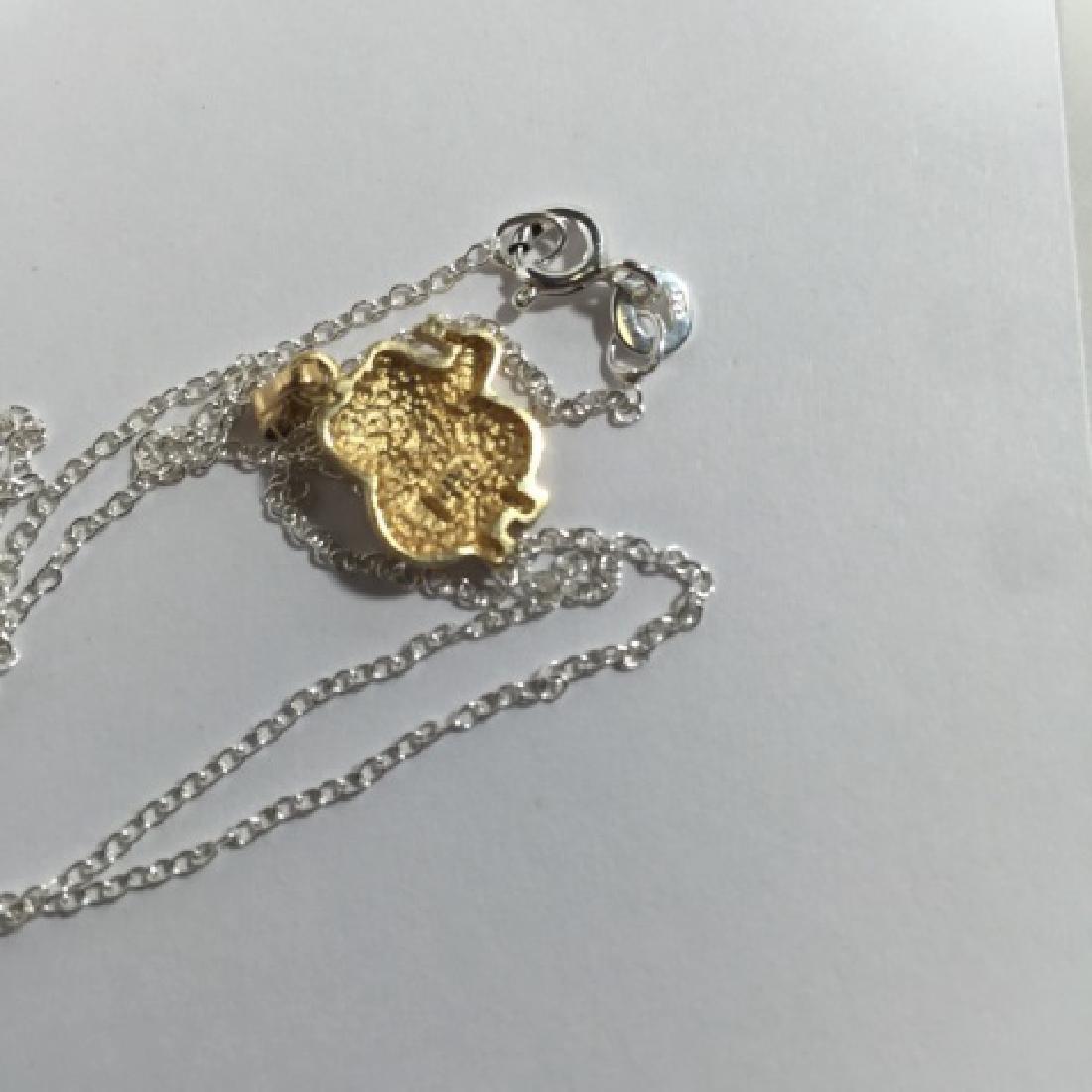 14kt Gold & Diamond Elephant Necklace Pendant - 4