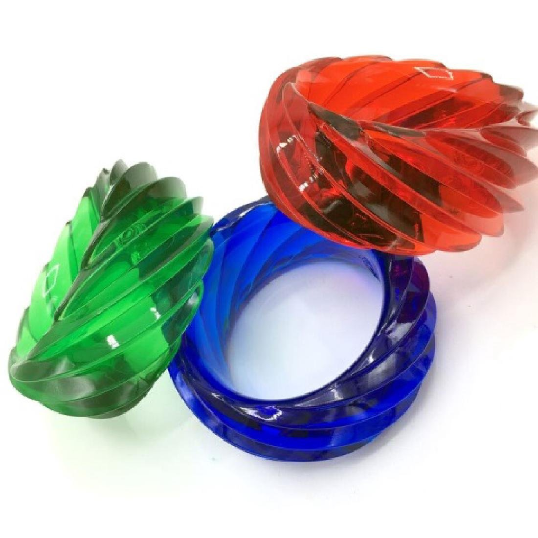 Costume Jewelry - GIANT LUCITE Bangle Bracelets - 2