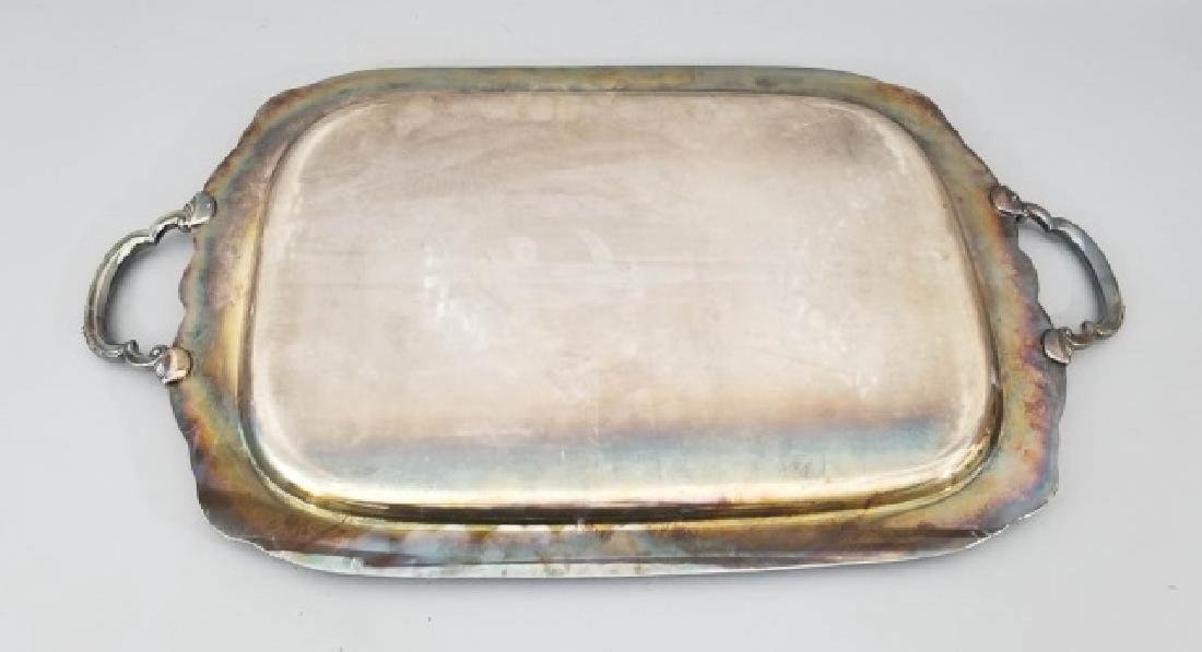 Antique Rogers Brothers Rococo Silver Plate Tray - 3