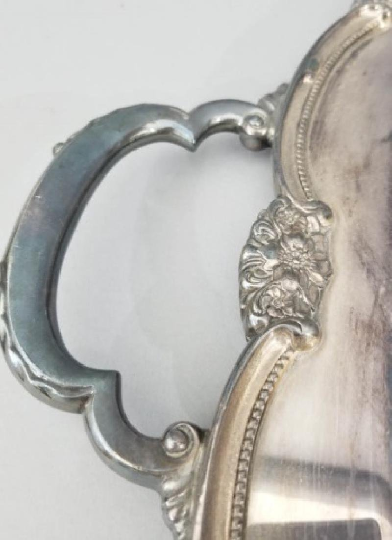 Antique Rogers Brothers Rococo Silver Plate Tray - 8