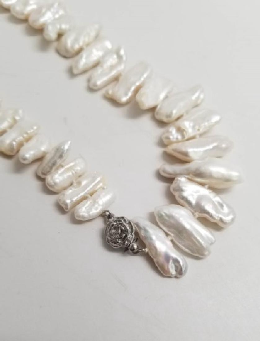 Set High Luster Baroque Pearl Necklace & Bracelet - 3