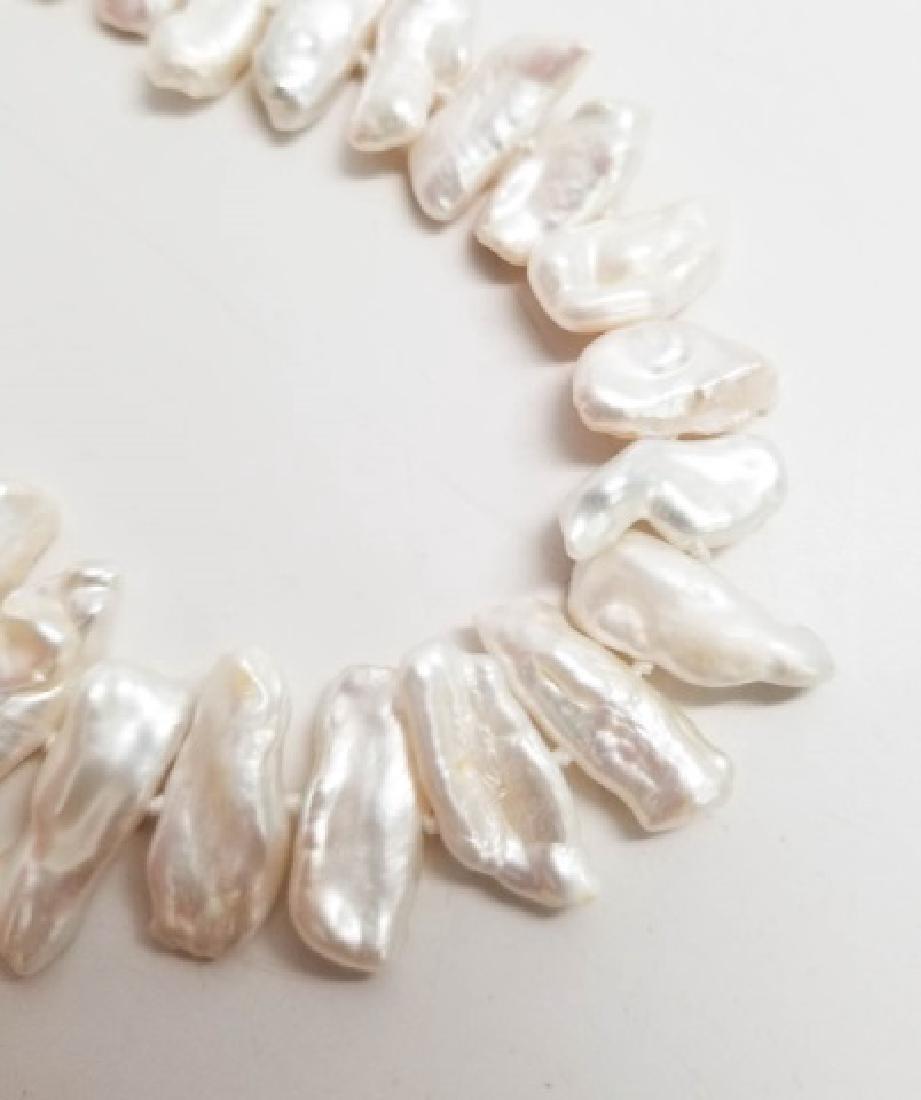 Set High Luster Baroque Pearl Necklace & Bracelet - 4
