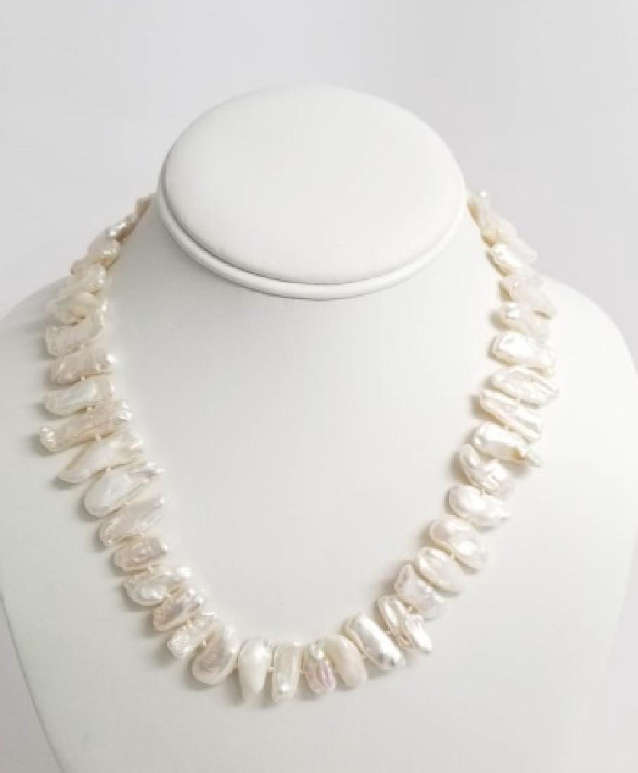 Set High Luster Baroque Pearl Necklace & Bracelet - 6