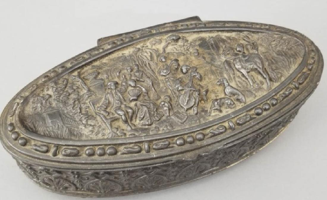 Antique Dutch Style Repousse Jewelry / Table Box