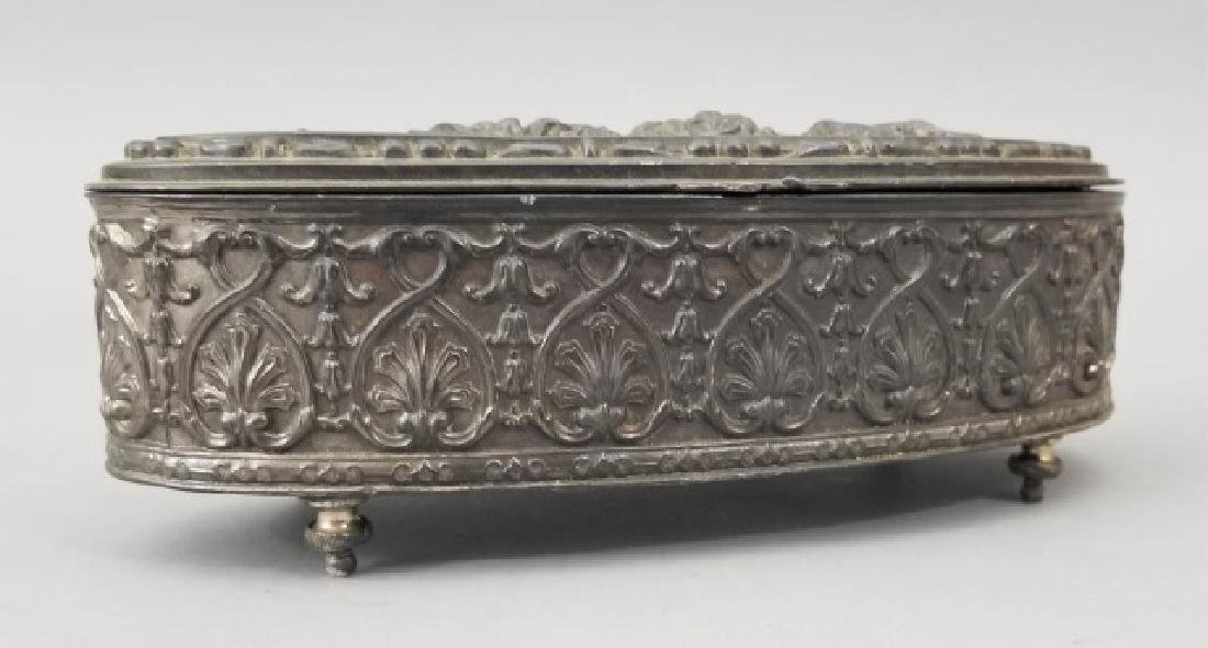 Antique Dutch Style Repousse Jewelry / Table Box - 2