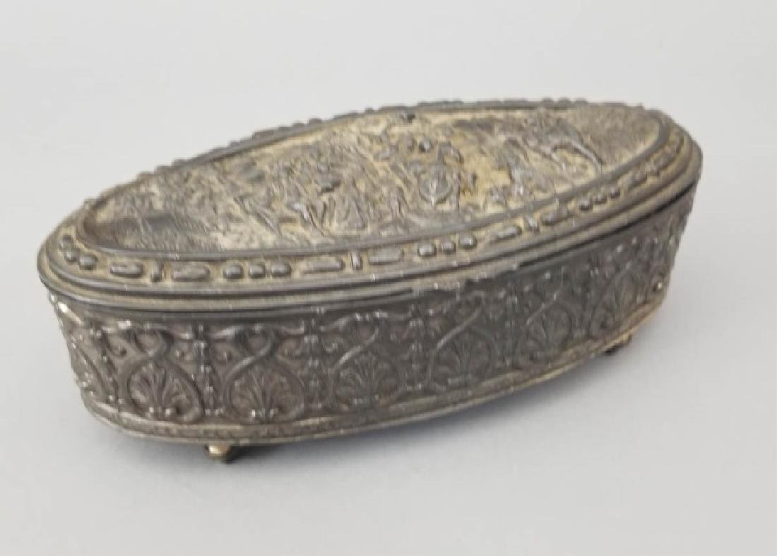 Antique Dutch Style Repousse Jewelry / Table Box - 4