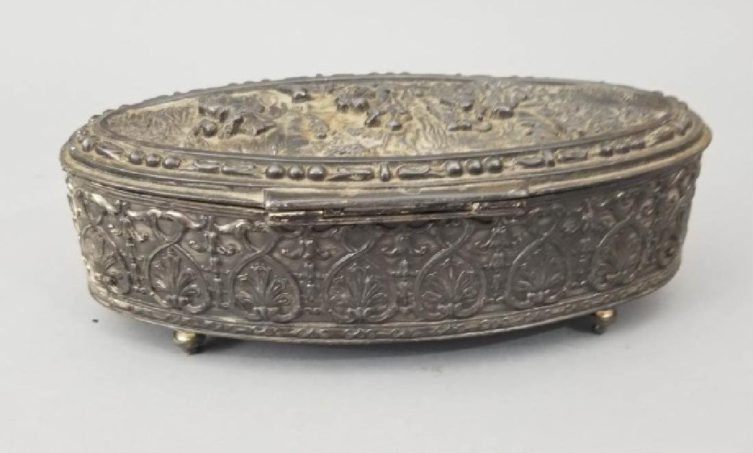 Antique Dutch Style Repousse Jewelry / Table Box - 8