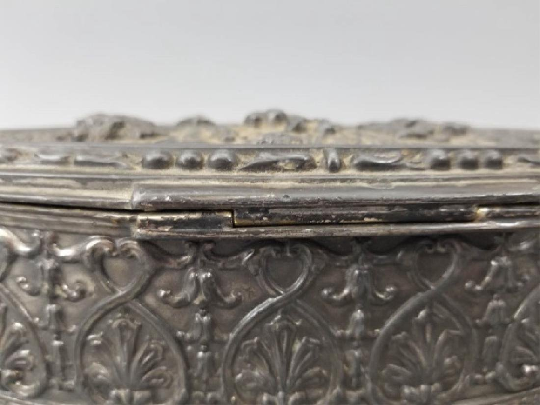 Antique Dutch Style Repousse Jewelry / Table Box - 9